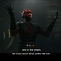 "Maul saying in the chaos, ""we must seize what power we can"""