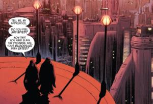on Coruscant Darth Sidious asks Darth Maul how it felt to kill the padawan