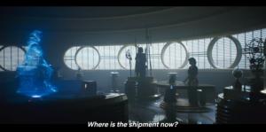 Maul asking Qi'ra where the coaxium shipment is