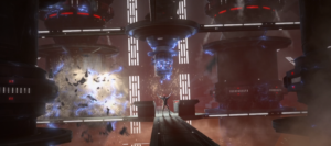 Maul destroying the hyperdrive generators using the Force