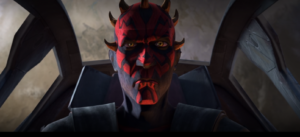 Maul flying away