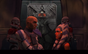 Maul in Mandalorian containment chamber