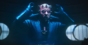 Maul removing his hood