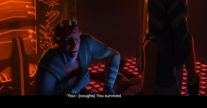 Maul surprised that Ahsoka survived