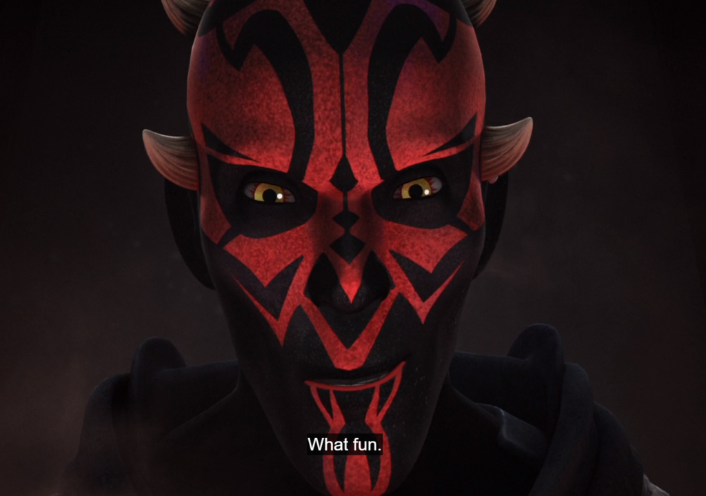 "Maul exclaiming ""What fun"""