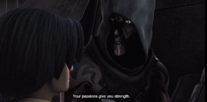 "Maul tells Ezra, ""Your passions give you strength"""