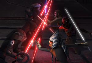 Inquisitors vs Maul, Kanan, and Ahsoka on Malachor