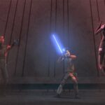 Kanan and Maul Vie for Mentoring Ezra As They Ascend the Sith Temple on Malachor
